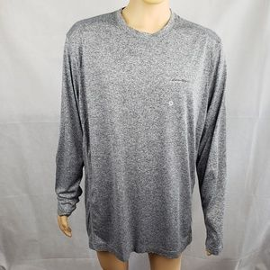 Eddie Bauer Gray Long Sleeve Hyoh Shirt Size TXL